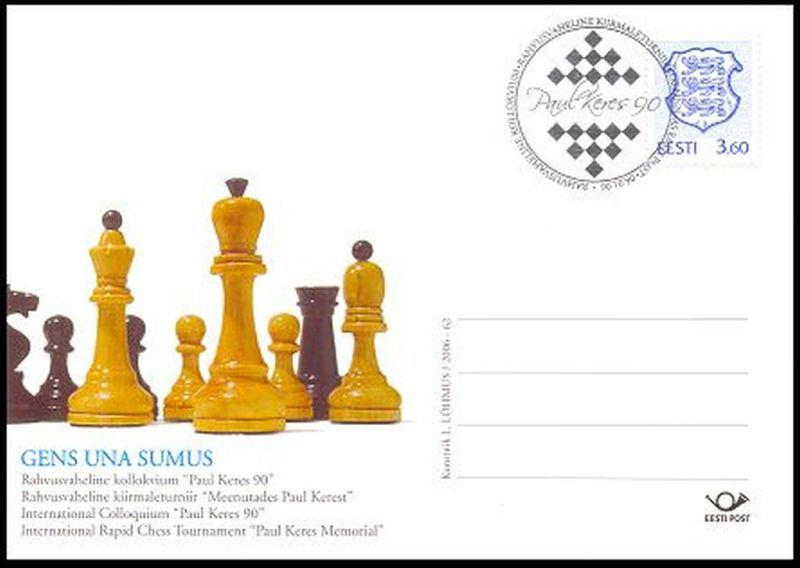chess stamps, FDC, postmarks, stationary, postcards and